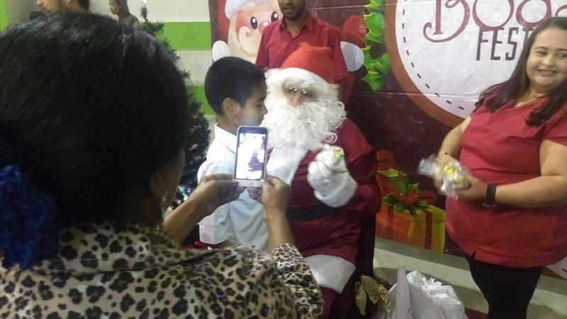 Papai Noel no Natal Social